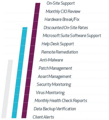 Our tiered package services: Vita, Vita Plus, Vita Pro