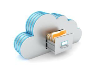 Save Data on the Cloud. Backup concept