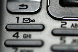 Phone keys mobile communication - Voicemail to email concept